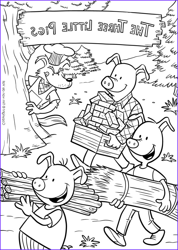 Coloring Story Book Awesome Photos Three Little Pigs Coloring Pages – the Three Little Pigs Story