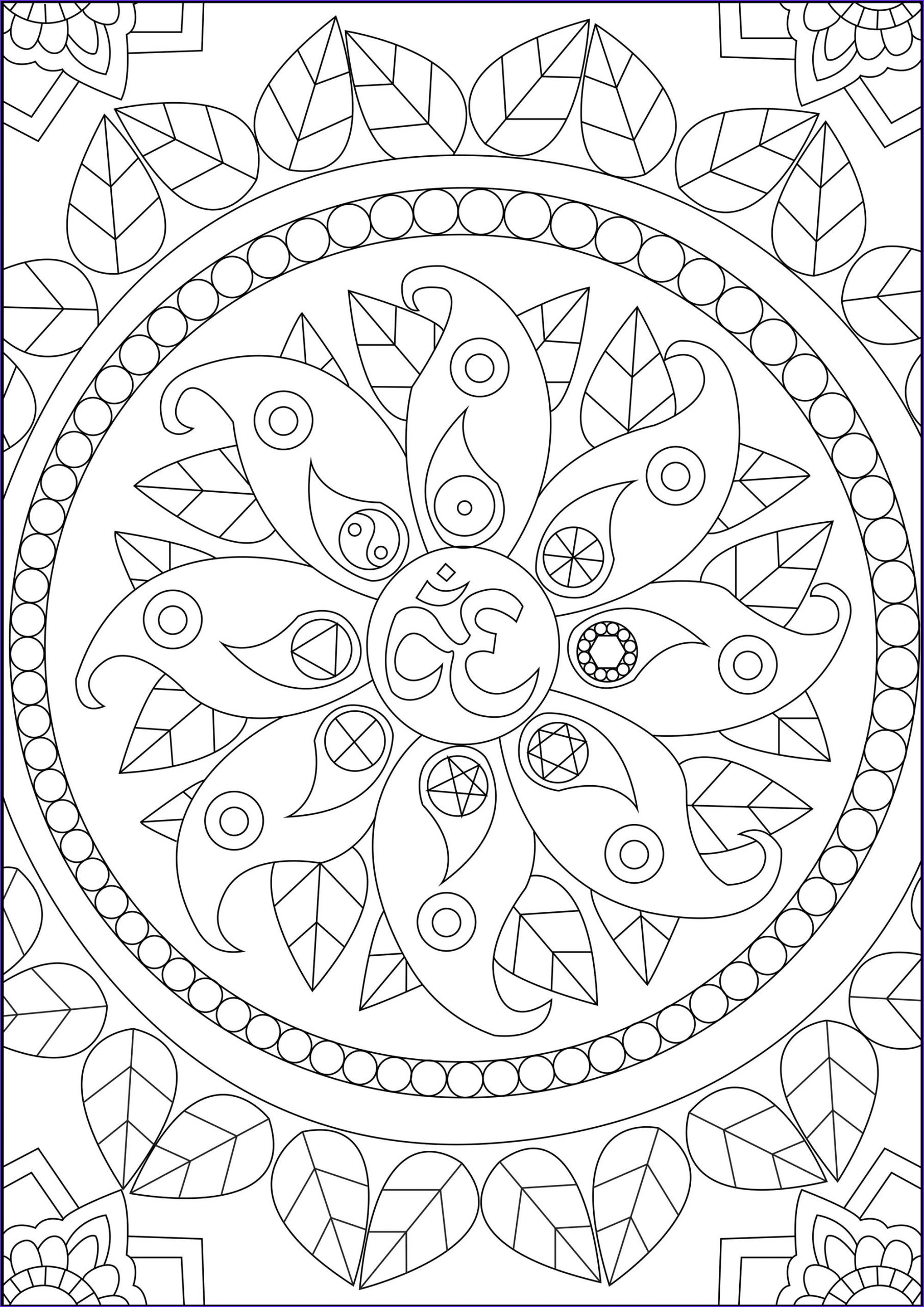 Coloring Stress Beautiful Gallery Peace Symbols Anti Stress Adult Coloring Pages