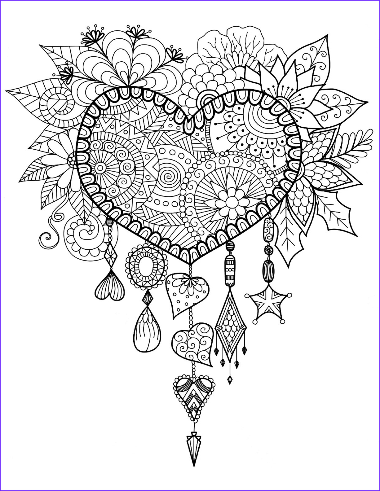 Coloring Stress Best Of Collection Heart Dreamcatcher