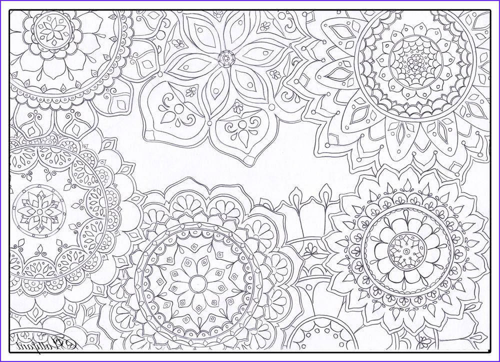 Coloring Stress Best Of Gallery Stress Relief Mandala Flowers Coloring Sheets