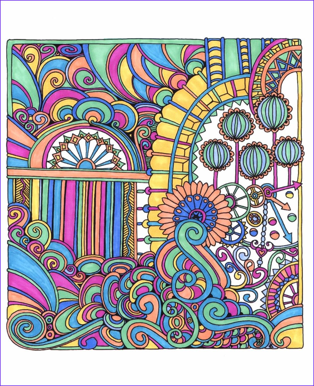 Coloring Stress Inspirational Photos Color Me Stress Free Nearly 100 Coloring Templates to