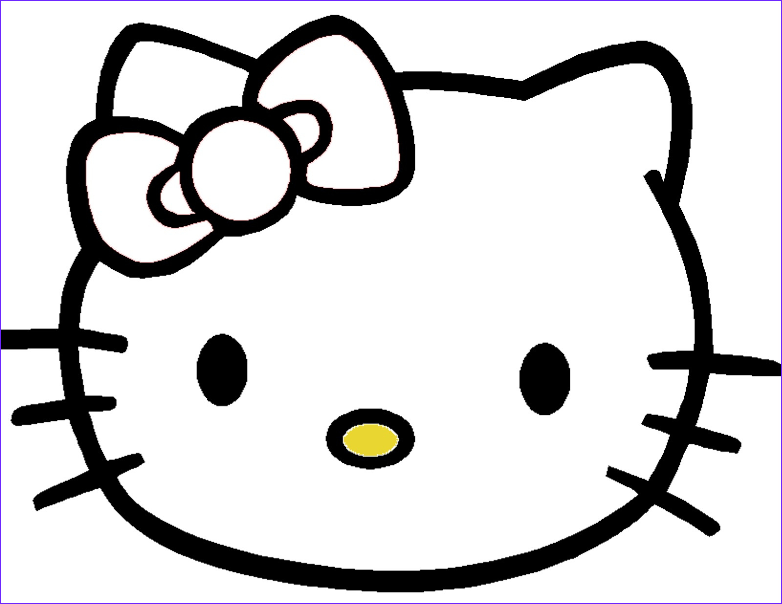 Coloring Stuff Awesome Collection Cinsarah Free Pin the Bow the Hello Kitty Game