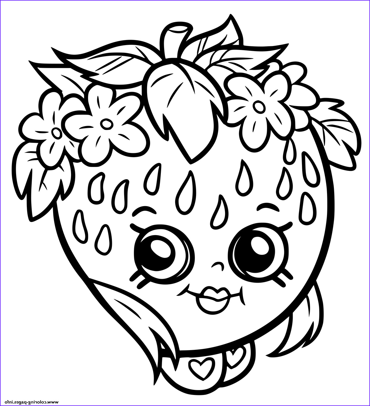 Coloring Stuff Cool Gallery Print Shopkins Strawberry Smile Coloring Pages
