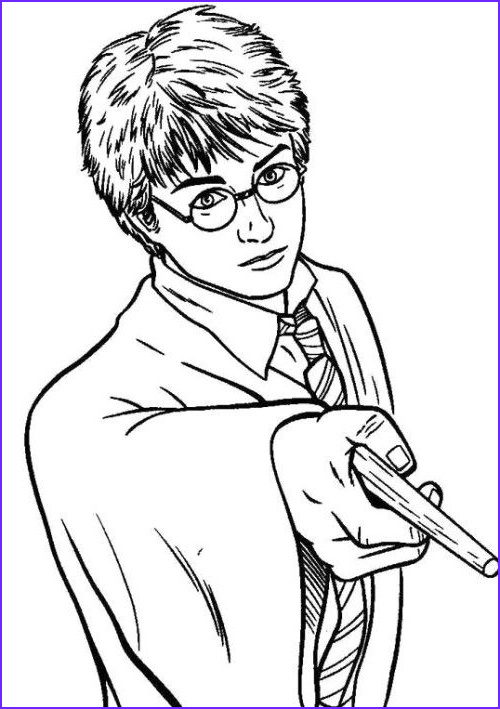 coloring pages lineart harry potter