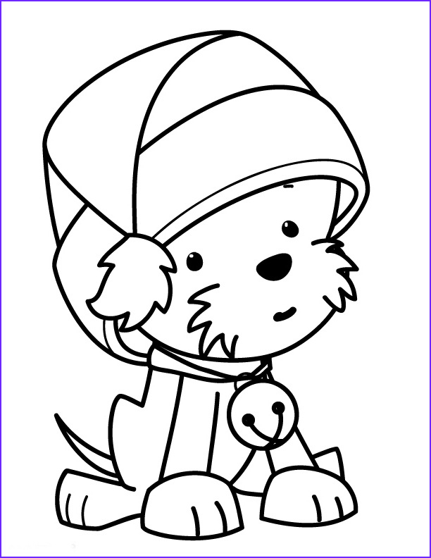 Coloring Stuff Inspirational Stock Christmas Puppy Coloring Pages