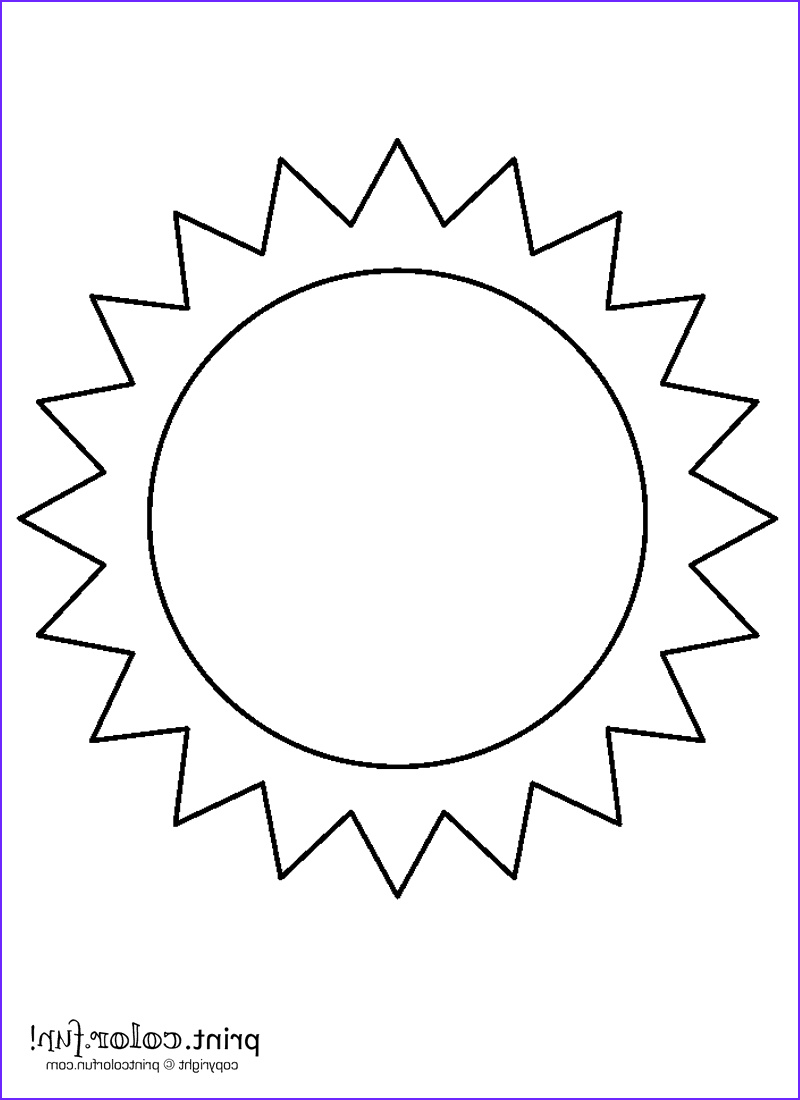 Coloring Sun New Collection Sun Coloring Page Print Color Fun