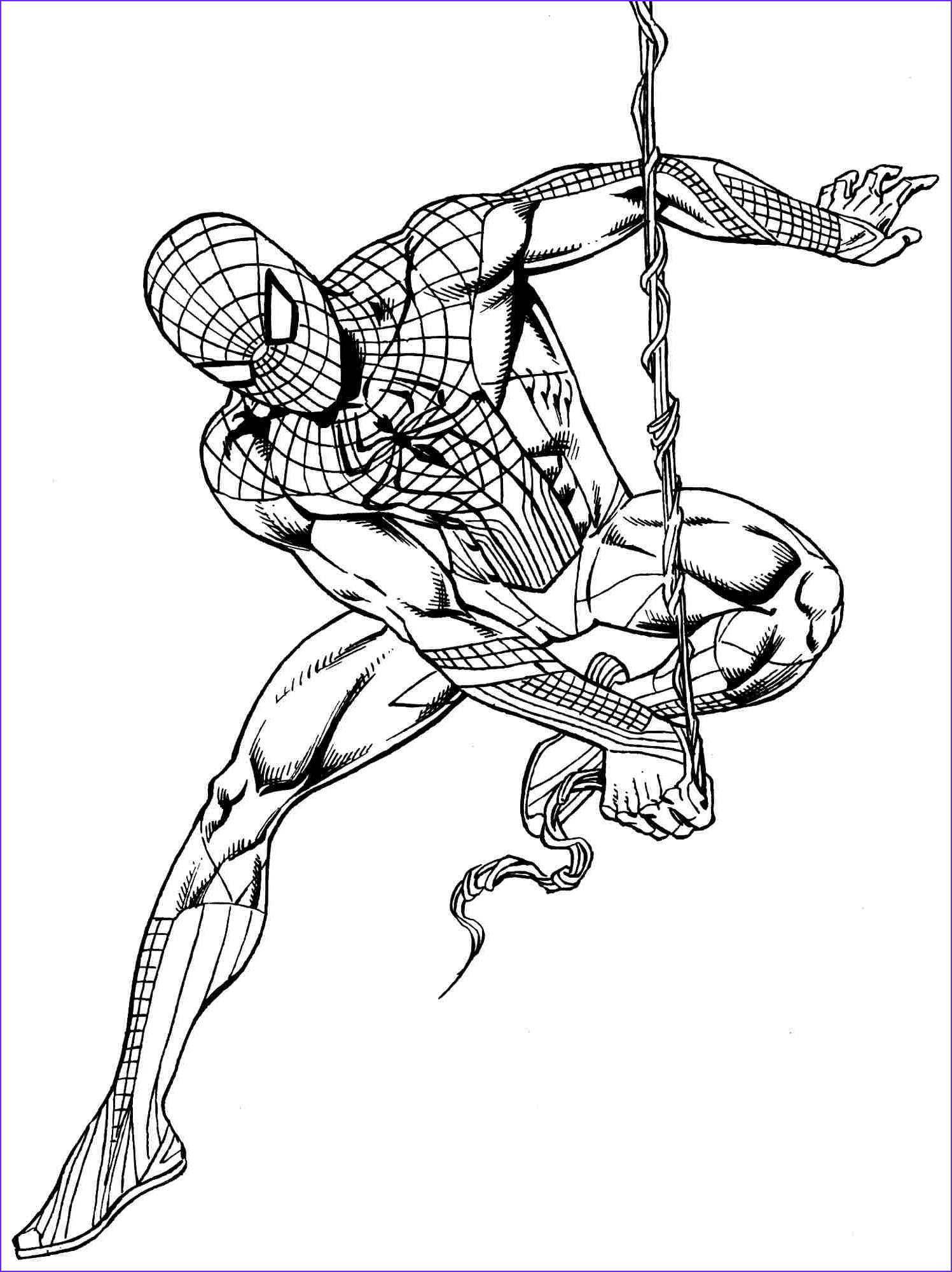 Coloring Superheroes Beautiful Image Download or Print the Free Spiderman Rope Coloring Page