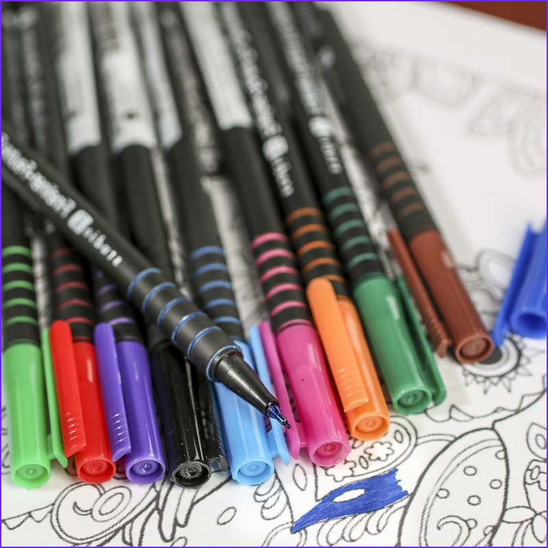 1302 2105 1053 adult coloring fineliner markers