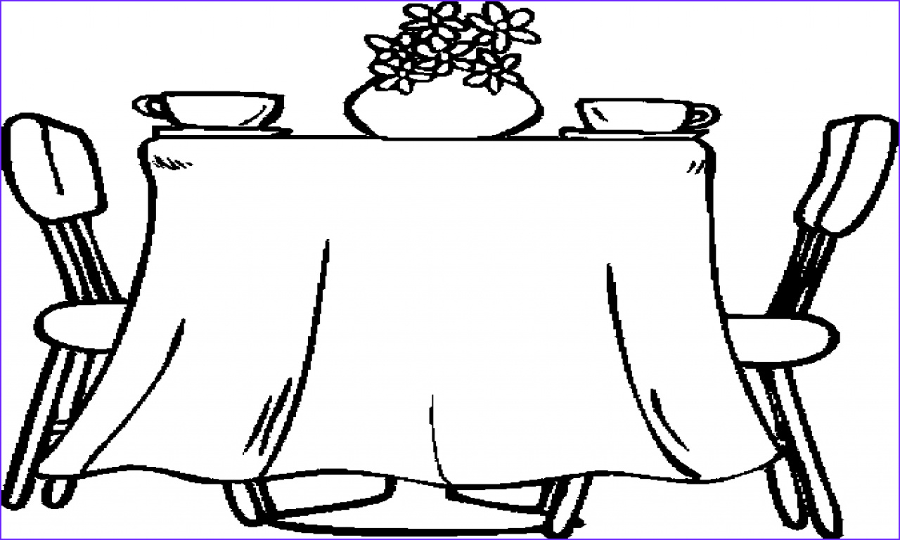 Coloring Table Beautiful Stock Black Dining Table Set Dining Room Table Coloring Page