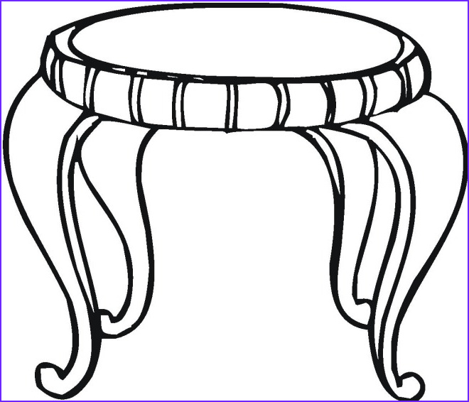 Coloring Table Elegant Photos Free Household Coloring Pages