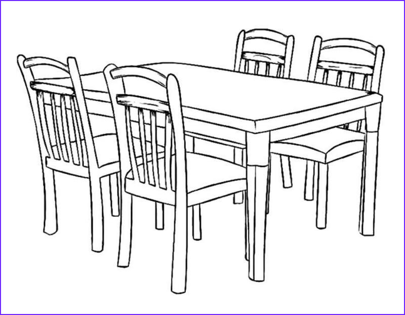 Coloring Table Unique Photos Vintage Dining Table Coloring Sheet