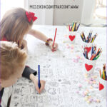 Coloring Tablecloth Awesome Photos Valentine S Day Coloring Tablecloth The Crafting Chicks
