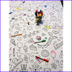 Coloring Tablecloth Beautiful Photos Amazon The Coloring Table Colorable Food Fun