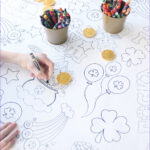 Coloring Tablecloth Cool Gallery St Patrick S Day Coloring Table Cloth The Crafting Chicks
