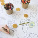 Coloring Tablecloth Cool Images St Patrick S Day Coloring Table Cloth The Crafting Chicks