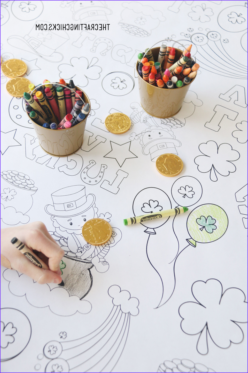 st patricks day coloring table cloth