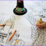Coloring Tablecloth Cool Photos Thanksgiving Coloring Tablecloth The Crafting Chicks