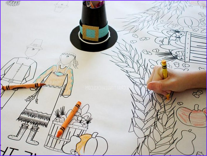 thanksgiving coloring tablecloth