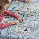 Coloring Tablecloth Luxury Gallery World Map Color In Tablecloth – Eatsleepdoodle Usa