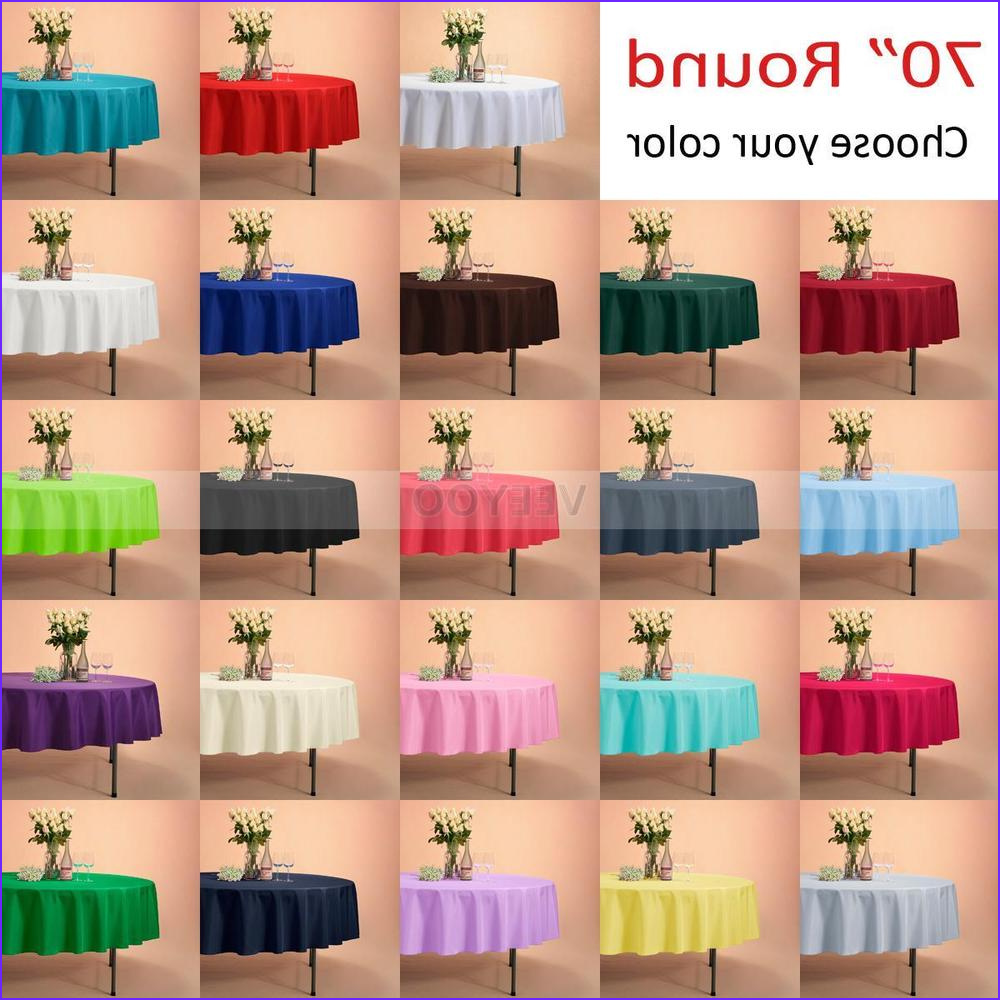"""Coloring Tablecloth New Gallery Veeyoo 70"""" Round Tablecloth Linen Great Weddings events"""