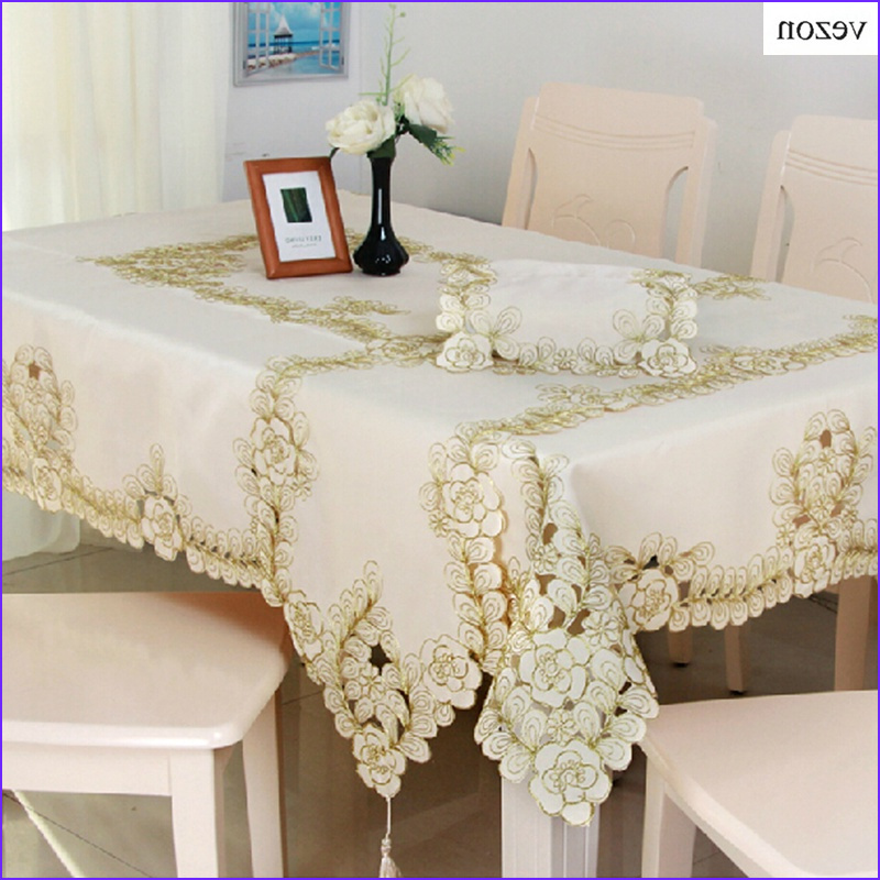 Coloring Tablecloth New Image Vezon New Hot Elegant Polyester Embroidery Floral