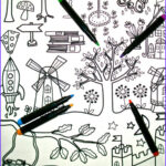 Coloring Tablecloth New Photography Coloring In Table Cloth Kids Craft Party Favor Children Girl