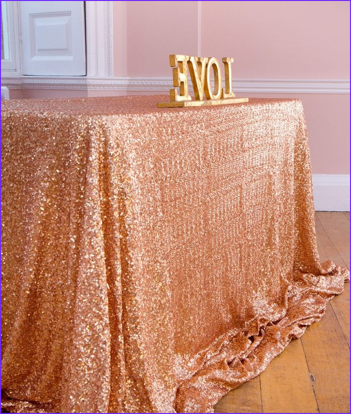 Coloring Tablecloth Unique Collection Aliexpress Buy 6ft Rectangle Rose Gold Sequin