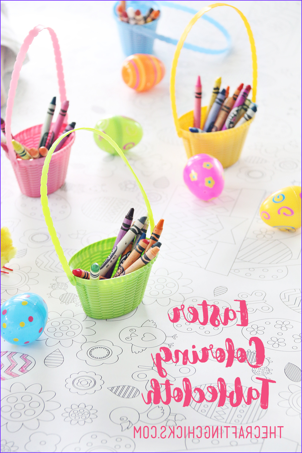 printable easter coloring tablecloth
