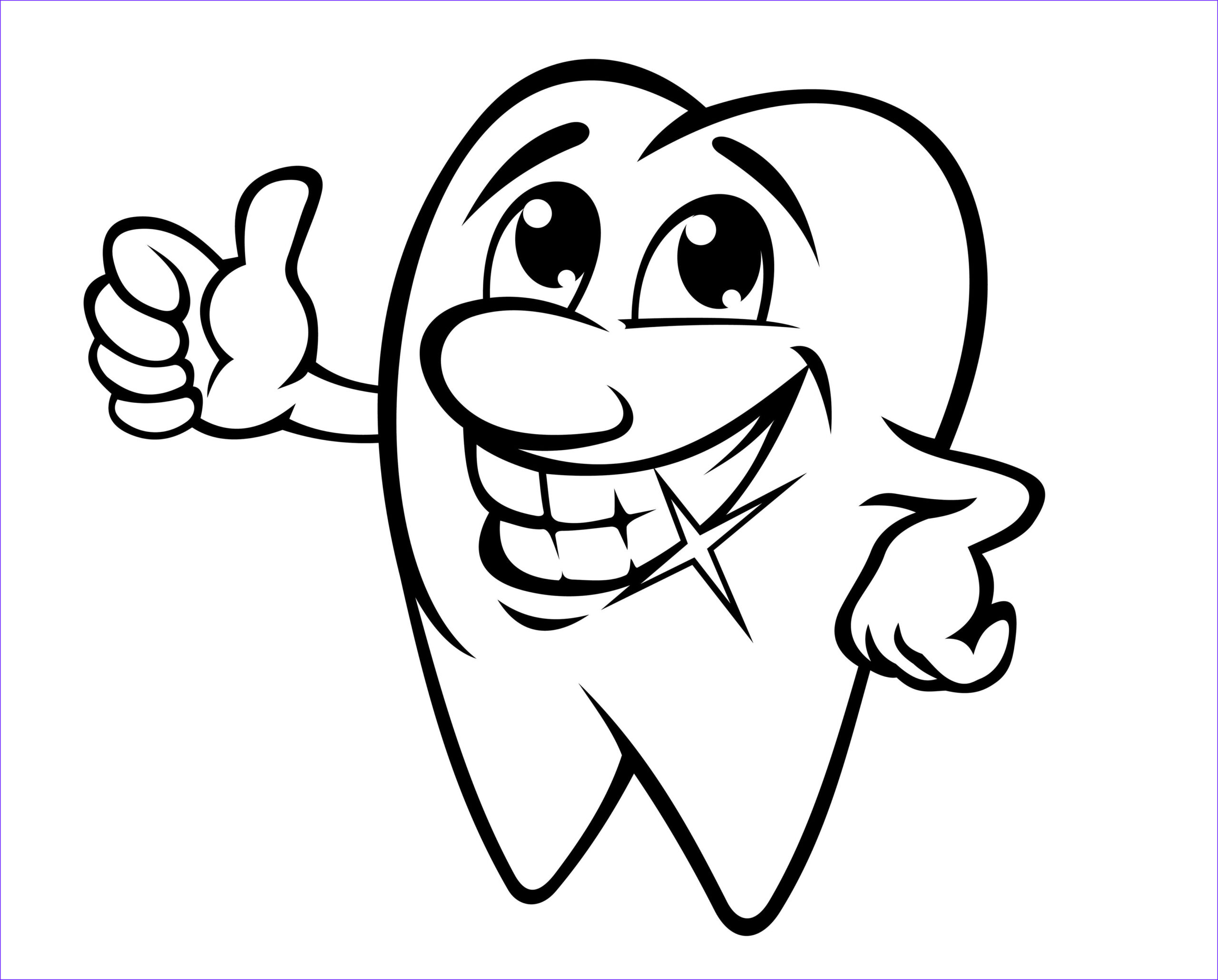 Coloring Teeth Awesome Collection Smiling tooth Coloring Page Small Humans