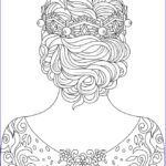 Coloring Therapy Cool Stock Best 898 Beautiful Women Coloring Pages For Adults Ideas