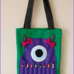 Coloring Tote Bags Inspirational Photos Green Felt Monster Coloring Tote Bag