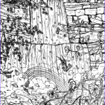 Coloring Waterfall Cool Photos Waterfall Coloring Page By Melanie76 On Deviantart