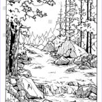 Coloring Waterfall New Photography Waterfall In The Wood Coloring Page For Adults