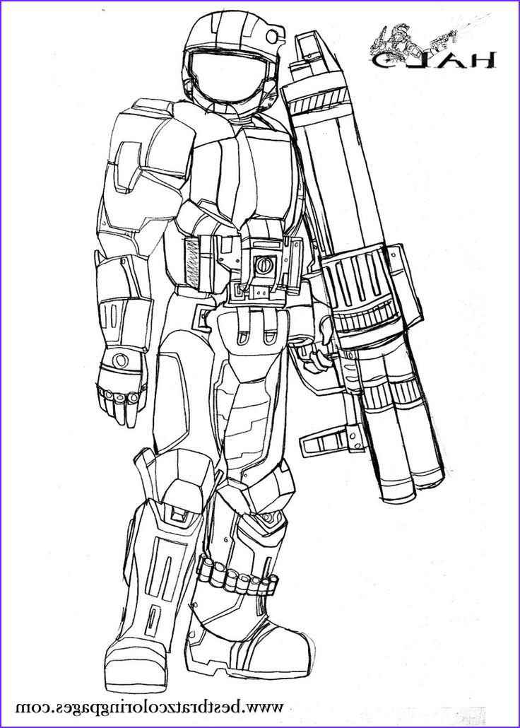 Coloring Web Site Awesome Collection Halo Coloring Pages For Kids