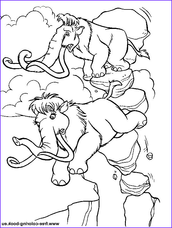 coloring pages ice age 1