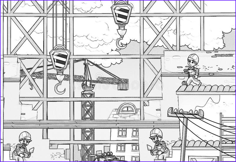 stock photography construction site coloring page beautiful children image