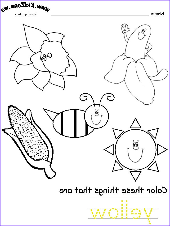 Coloring Worksheets for Kindergarten Cool Image Y is for Yellow Lors Yellow1 718×957 Pixels