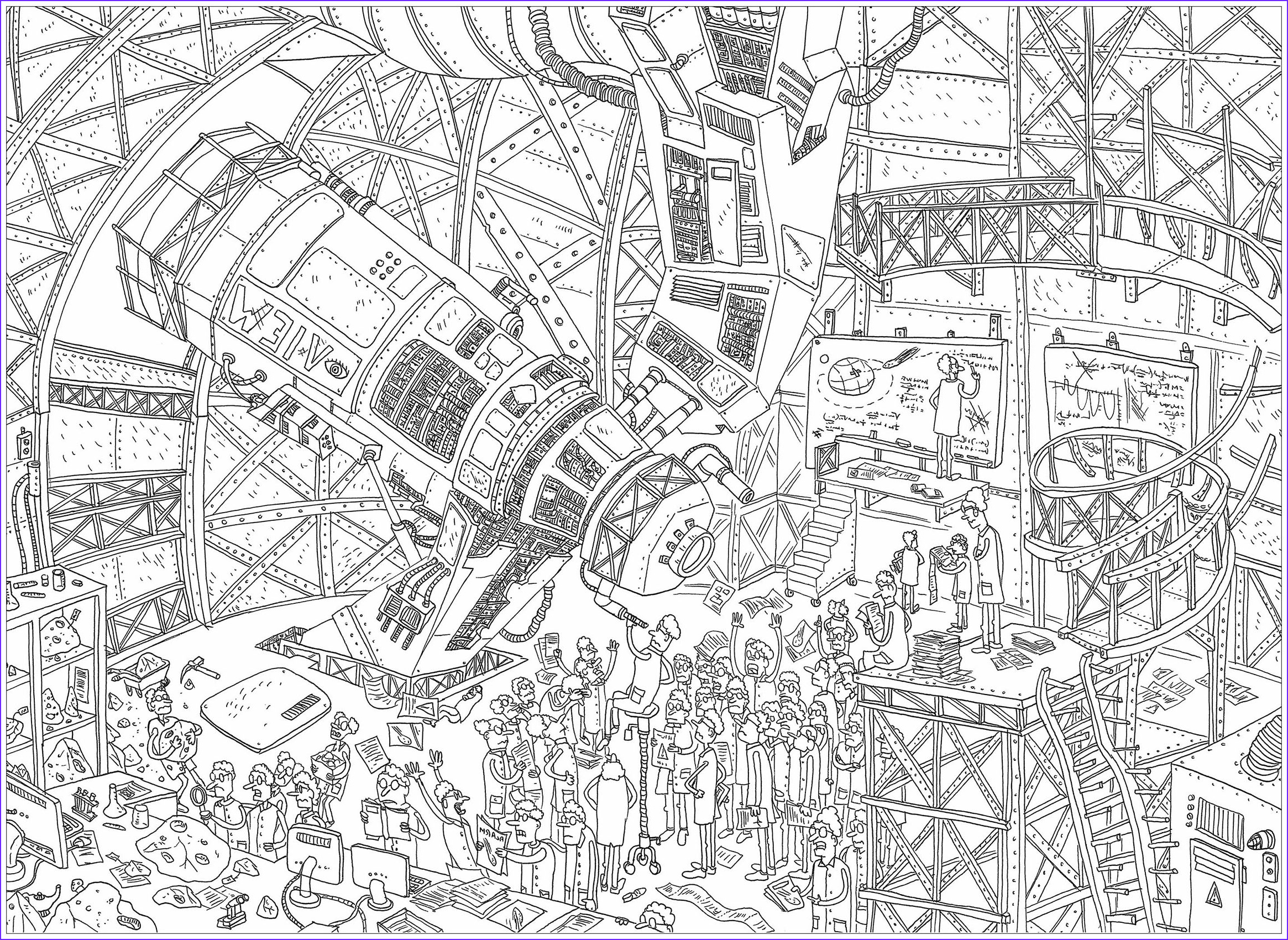 Complicated Coloring Pages for Adults Cool Photos Plex Telescope Unclassifiable Adult Coloring Pages