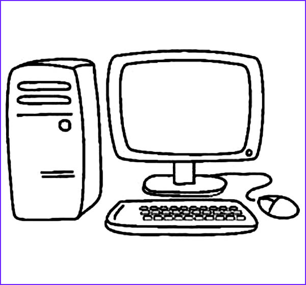 Computer Coloring Page Cool Image Puter Coloring Book Clipart Best