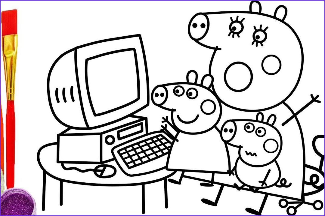 Computer Coloring Page Cool Images Puter Parts Drawing at Getdrawings