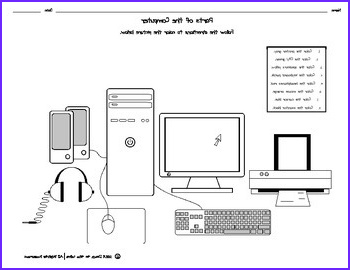 Parts of the puter Coloring Page