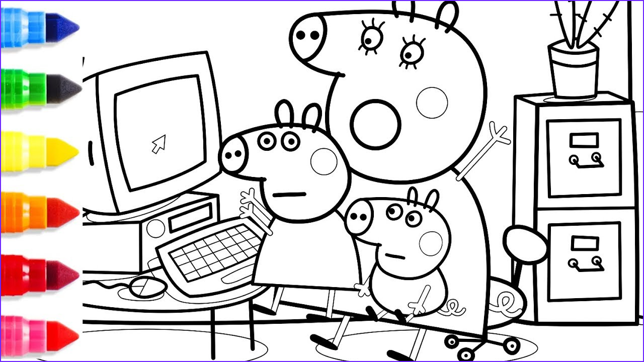 Computer Coloring Page Inspirational Stock Peppa Pig Mummy Pig Puter Coloring Pages Peppa