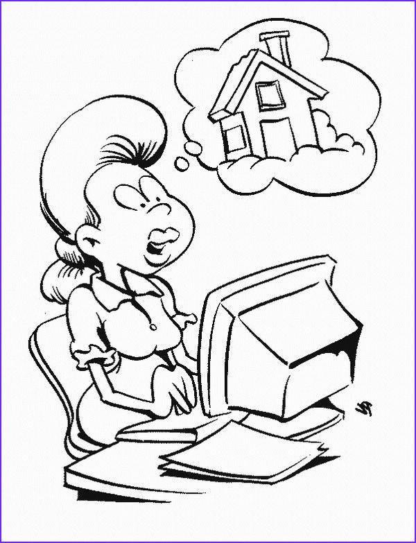 Computer Coloring Page New Photos Kids N Fun