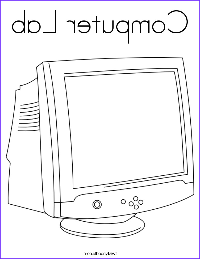 puter lab coloring page