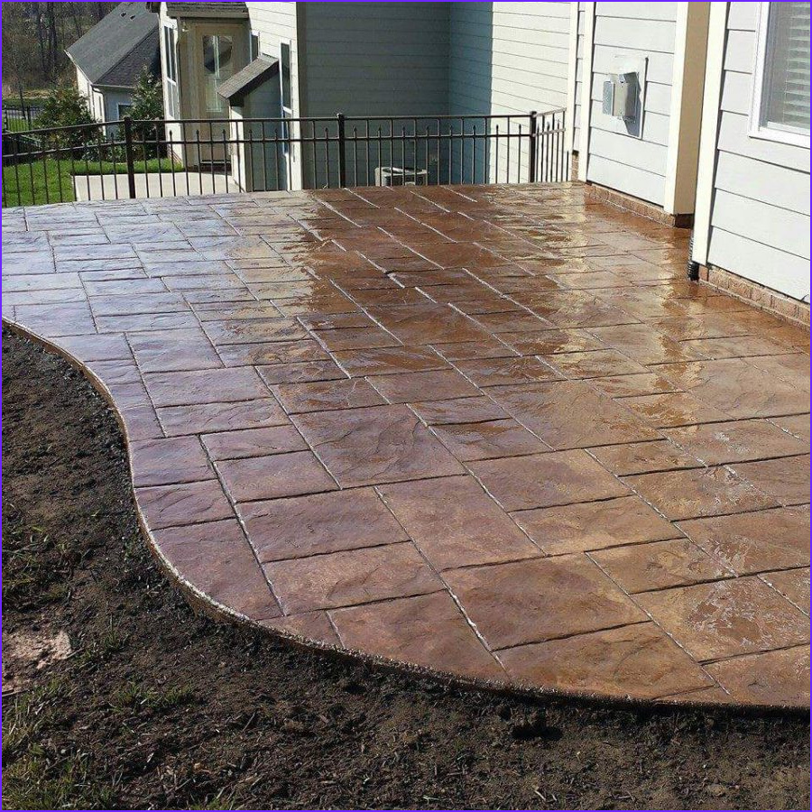 Concrete Coloring Beautiful Image Decorative Colored Stamped Concrete