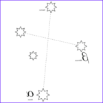 Constellation Coloring Pages Cool Collection Crux Constellation Southern Cross Coloring Page