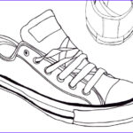 Converse Coloring Page Beautiful Stock Converse Sneaker Line Art