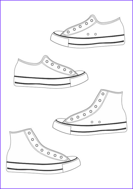 Converse Coloring Page Best Of Collection Coloring Page Shoes Naulakkomerkit