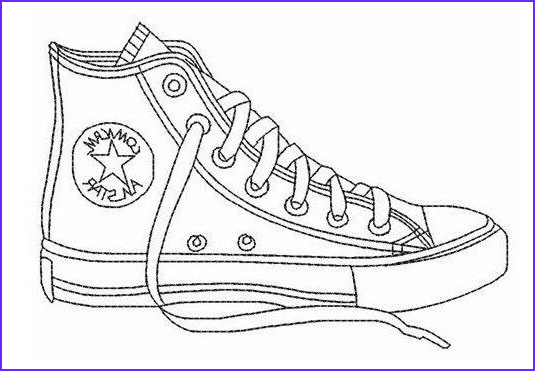 Converse Coloring Page New Photos Converse All Star Coloring Page Shoes