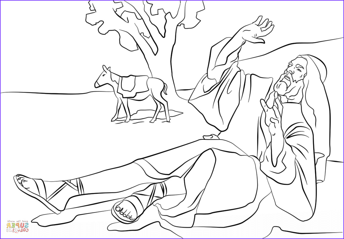 Convert Photo to Coloring Page Free Unique Gallery Paul Blinded On the Road to Damascus Coloring Page